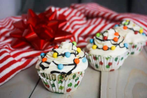 Christmas Lights Cupcakes