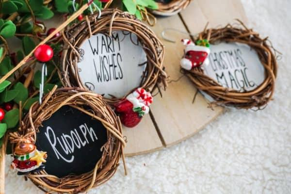 Grapevine Wreath Ornaments