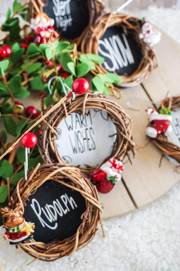 easy Grapevine Wreath Ornaments for Christmas