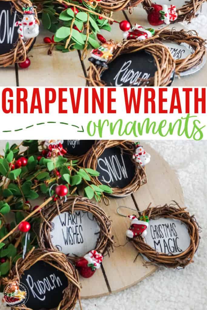 DIY Grapevine Wreath Ornaments