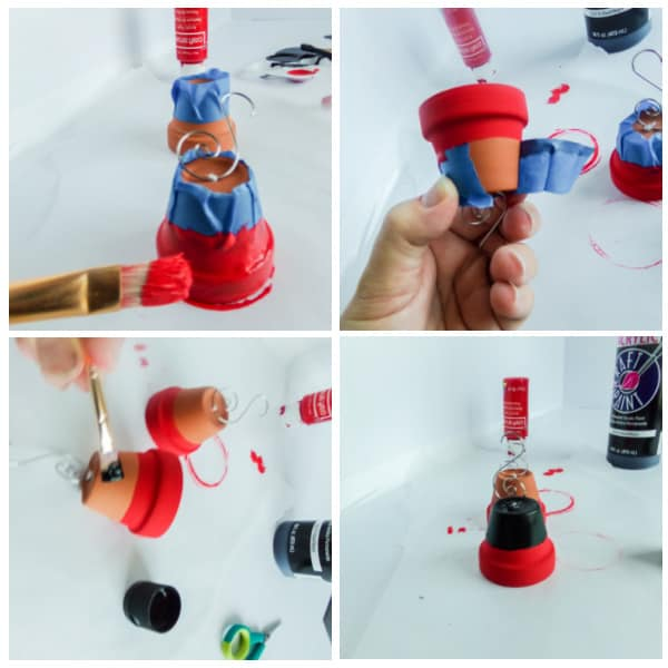 how to paint DIY Mickey bell ornament