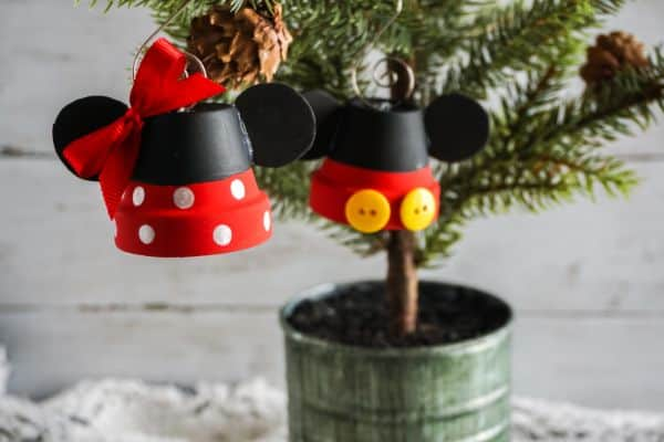 Mickey and Minnie Ornaments