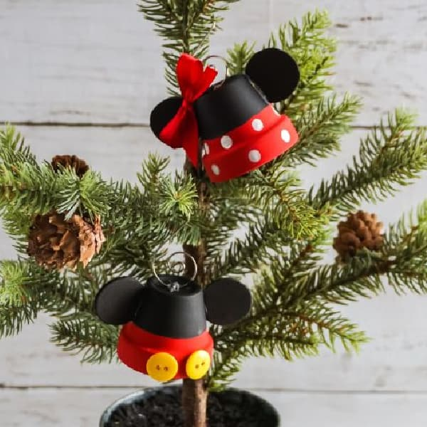 easy Mickey bell ornament
