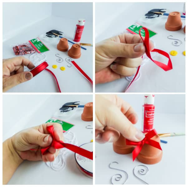 how to make a bow for a Minnie ornament