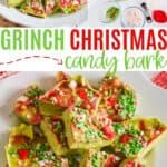 Christmas Grinch Bark