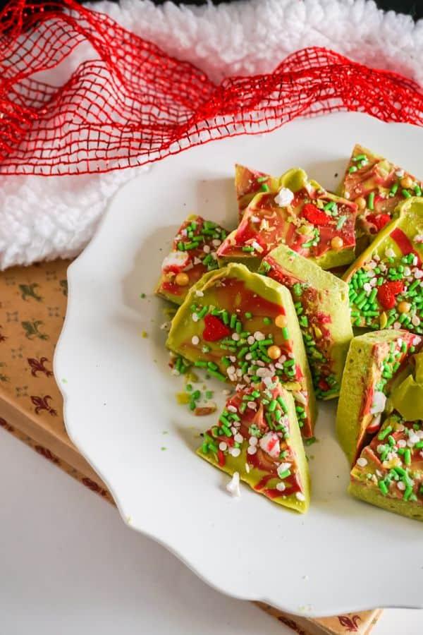 Easy Christmas Grinch Bark Candy
