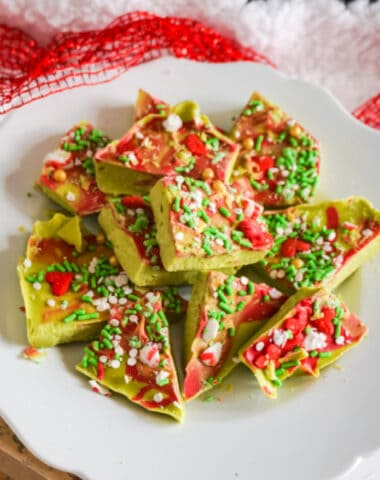 Easy Christmas Grinch Bark Candy