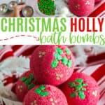 Holly Christmas bath bombs