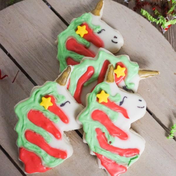 Unicorn Cookies for Christmas
