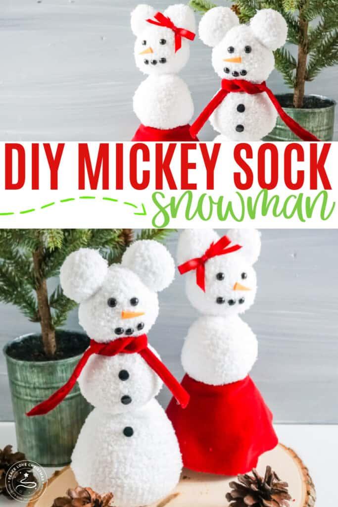 Mickey Sock Snowman